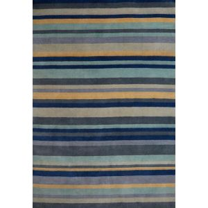 Ainslie 03 Blue/Yellow Stripe Rug