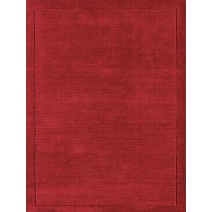 York Plain Poppy Red Rugs Online | Pure Woollen Pile