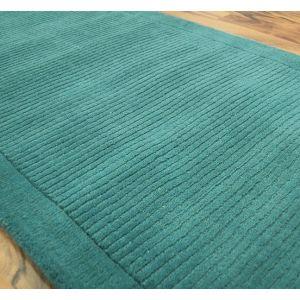 York Teal Rugs 100% Wool Rectangle Rugs