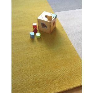 Blox Mustard Wool Rug