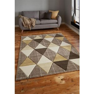 Brooklyn Rugs 21896 in Beige and Yellow