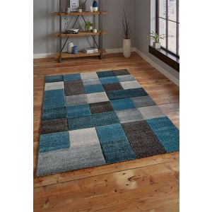 Brooklyn 646 Rugs in Blue and Grey - Free UK Delivery