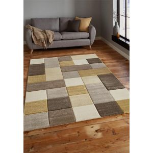 Brooklyn 646 Rugs in Beige and Yellow