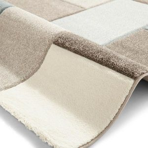 Brooklyn Rugs 646 in Beige and Grey and Blue