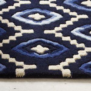 Buy Origins ORI01 Wool Rug in Blue by Plantation Rugs