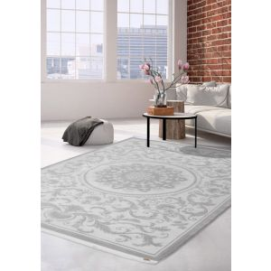 Buy Pierre Cardin Charme Exclusive 510 Silver Rugs - Free UK Delivery