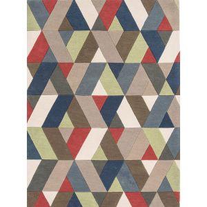 Funk Chevron Multi Wool Rug by Asiatic in 120 x 170 cm