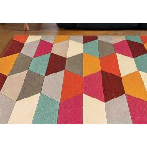 Funk Honeycomb Bright Rug by Asiatic