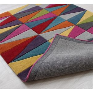 Funk Triangles Wool Rug by Asiatic
