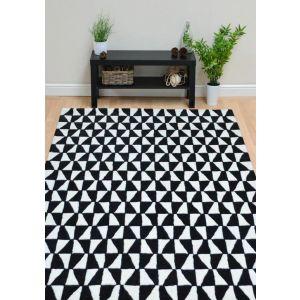 Geometric GEO01 Black/White Wool Rug