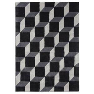 Geometric GEO04 Rugs in Black/Grey - Free UK Delivery
