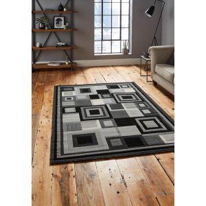 Buy Hudson 3222 Geometric Rugs in Black/Grey