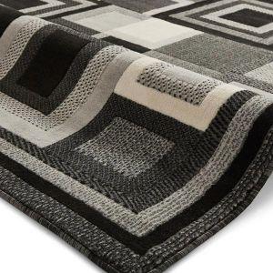 Hudson 3222 Rugs in Black/Grey
