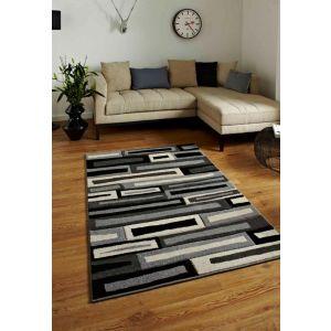 Buy Matrix FR40 Rugs in Black/Grey
