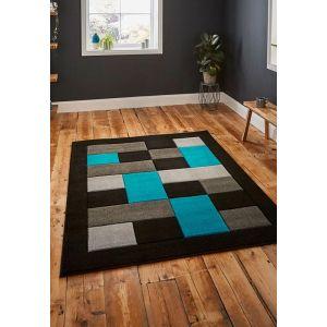 Buy Matrix MT04 Rugs in Black/Blue