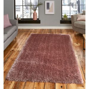 Montana Rose Shaggy Rug by Think Rugs