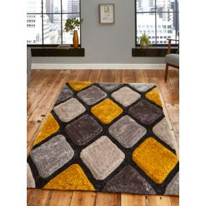 Noble House NH 9247 Grey/Yellow Rugs in 120 x 170 cm