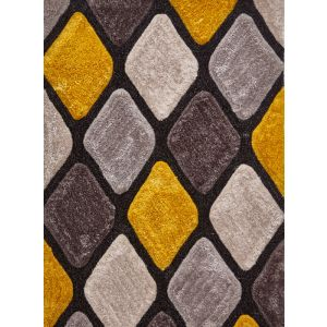 Noble House NH-9247 Grey/Yellow Rugs in 150 x 230 cm