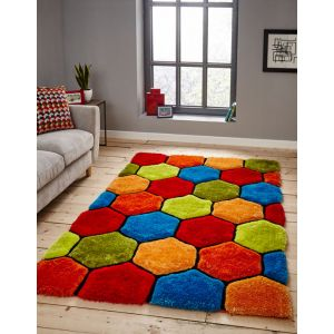Noble House NH-30782 Multi Shaggy Rugs by Think