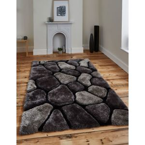 Noble House NH-5858 Black/Grey Area Rugs