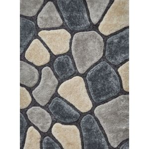 Noble House NH 5858 Grey/Blue Shaggy Rugs By Think Rugs
