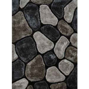 Noble House NH-5858 Rugs in Grey, Cobalt