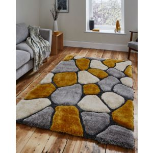 Noble House NH-5858 Grey/Yellow Rug by Think Rugs