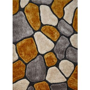 Noble House NH-5858 Rugs in Grey/Yellow