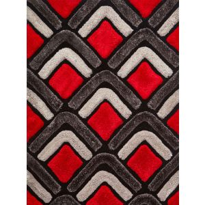Noble House Rugs, NH8199 Black/Red Rug