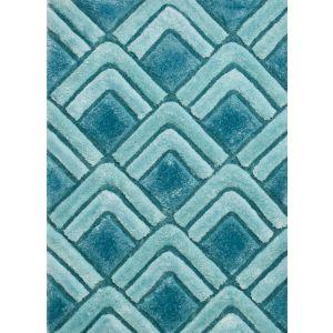 Noble House NH8199 Blue Handtufted Shaggy Rug 120 x 170 cm