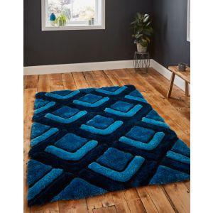 Noble House Rugs, NH-8199 Dark Blue Rug in 120 x 170 cm