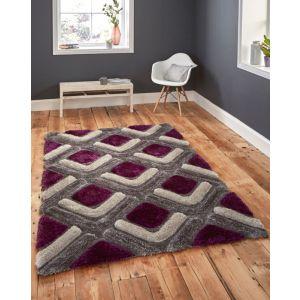 Noble House NH-8199 Grey/Purple Shaggy Rugs