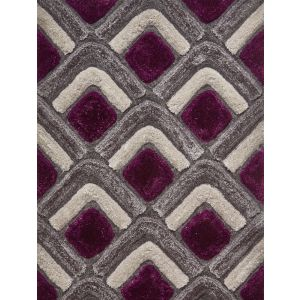 Noble House NH-8199 Grey/Purple Rugs by Think Rugs