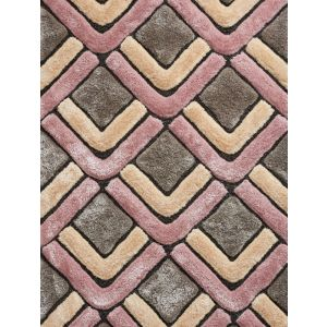 Think Noble House Rugs, NH1899 Grey/Rose Shaggy Rug
