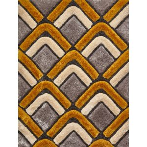 Noble House NH-8199 Grey/Yellow Rugs in 120 x 170 cm