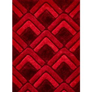 Noble House NH-8199 Red Handtufted Shaggy Rugs
