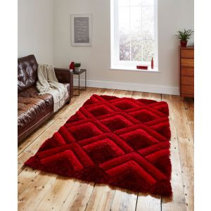 Noble House NH8199 Red Shaggy Rugs