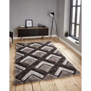 Noble House NH-8199 Rugs in Silver, Rectangle Size 120 x 170 cm