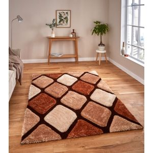 Noble House NH-9247 Beige/Brown Shaggy Rugs by Think