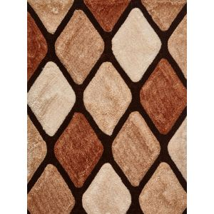 Noble House NH-9247 Beige/Brown Shaggy Rug