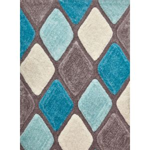 Noble House Shaggy Rugs, NH-9247 in Grey/Blue