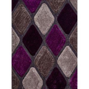 Noble House NH-9247 Grey/Purple Shaggy Rugs