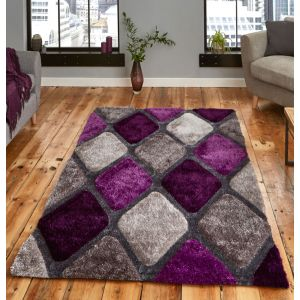 Noble House NH-9247 Grey/Purple Rug by Think Rugs