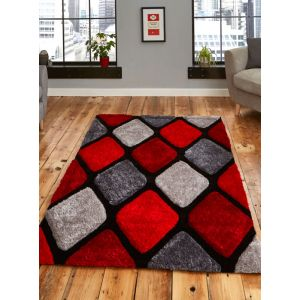 Noble House NH-9247 Rugs in Grey/Red