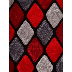 Noble House NH-9247 Grey/Red Area Rug