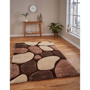 Noble House NHG1631 (3545) Beige Brown Shaggy Rugs