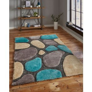 Noble House NHG1631 (3545) Silver/Blue Area Rugs