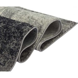 Buy Nova NV03 Distress Rugs in Abstract Grey - Free UK Delivery