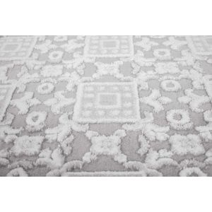 Buy Pierre Cardin Charme Exclusive 410 Silver Rugs - Free UK Delivery