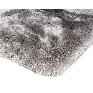 Shaggy Silver Living Room Rug
